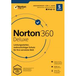 Norton 360 Deluxe   5 Geräte   1 Jahr Schutz   50 GB   kein Abo