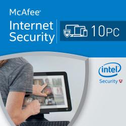 McAfee Internet Security 2018 10 PC licencja na rok