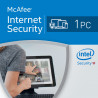 McAfee Internet Security 2016 1 PC licencja na rok